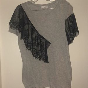 Used Sz XL gray w/blk lace